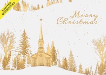 Peace of Gold Christmas Cards
